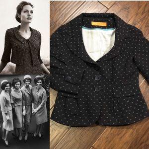 Cynthia Steffe Navy 3/4 Sleeve Short Blazer Jacket